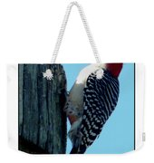#8671 Woodpecker Weekender Tote Bag