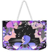 889  Happily Listening To The Music V Weekender Tote Bag