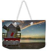 8990- Miami Beach Sunrise Weekender Tote Bag