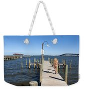 Indian River Lagoon At Eau Gallie In Florida Usa Weekender Tote Bag