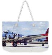 B-17 Bomber Parking Weekender Tote Bag