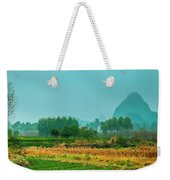 Beautiful Countryside Scenery In Autumn Weekender Tote Bag