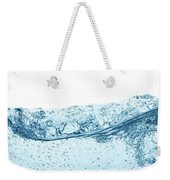 Blue Water Wave Abstract Background Weekender Tote Bag