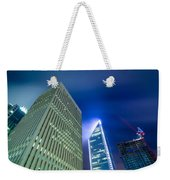 Charlotte North Carolina Skyline Weekender Tote Bag