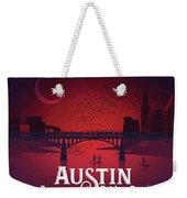 Austin's Congress Bridge Bats Illustration Art Prints Weekender Tote Bag