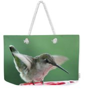 Female Ruby-throated Hummingbird Weekender Tote Bag