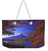 Mount Fuji In Autumn Weekender Tote Bag