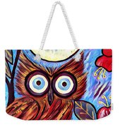 Owl Midnight Weekender Tote Bag