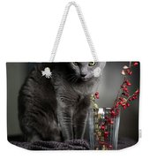 Russian Blue Weekender Tote Bag