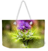 Silybum Eburneum Milk Thistle Weekender Tote Bag