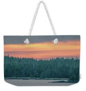 Sunset Over Alaska Fjords On A Cruise Trip Near Ketchikan Weekender Tote Bag