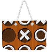 Tic Tac Toe Wooden Board Generated Seamless Texture Weekender Tote Bag