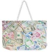 Travel Money - World Economy Weekender Tote Bag