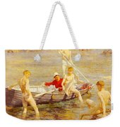 Tuke Henry Scott Ruby Gold And Malachite Henry Scott Tuke Weekender Tote Bag
