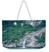 Waterfall In Tracy Arm Fjord, Alaska Weekender Tote Bag