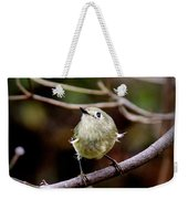 9343-00-ruby-crowned Kinglet Weekender Tote Bag