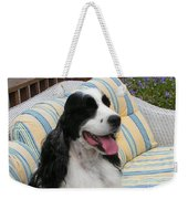 #940 D1066 Farmer Browns Springer Spaniel Happy Weekender Tote Bag