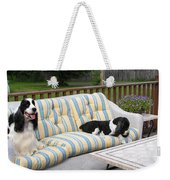 #940 D1094 Farmer Browns Springer Spaniel Together Weekender Tote Bag