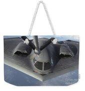 A B-2 Spirit Bomber Prepares To Refuel Weekender Tote Bag
