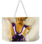 A Baltimore Ravens Cheerleader  Weekender Tote Bag