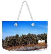 A Barn In The Snow In Maine Weekender Tote Bag