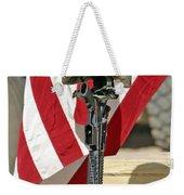 A Battlefield Memorial Cross Rifle Weekender Tote Bag by Stocktrek Images
