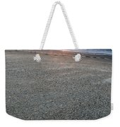 A Beach During Sunset With Glowing Sky Weekender Tote Bag