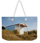A Beach Hut In The Marram Grass At Old Hunstanton North Norfolk Weekender Tote Bag