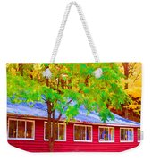 A Beautiful Country Building In The Fall 1 Weekender Tote Bag