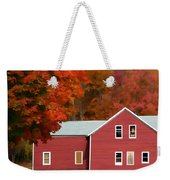 A Beautiful Country Building In The Fall 2 Weekender Tote Bag
