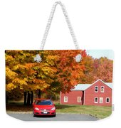 A Beautiful Country Building In The Fall 4 Weekender Tote Bag