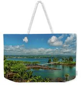 A Beautiful Day Over Hilo Bay Weekender Tote Bag