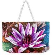 A Beautiful Purple Water Lilies Flower Weekender Tote Bag