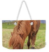 A Beautiful Red Mane On An Icelandic Horse Weekender Tote Bag