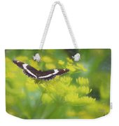 A Beautiful Swallowtail Butterfly On A Yellow Wild Flower Weekender Tote Bag