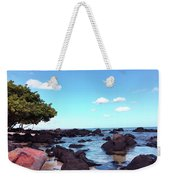 A Beautiful View Of The Sea From Mauritius Weekender Tote Bag