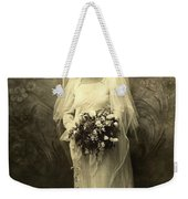 A Beautiful Vintage Photo Of Coloured Colored Lady In Her Wedding Dress Weekender Tote Bag