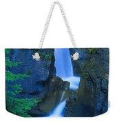 A Beautiful Waterfall, Johnston Canyon Weekender Tote Bag