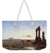 A Bedouin Encampment By A Ruined Temple  Weekender Tote Bag