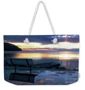 A Bench To Reflect Weekender Tote Bag