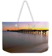A Biloxi Pier Sunset - Mississippi - Gulf Coast Weekender Tote Bag