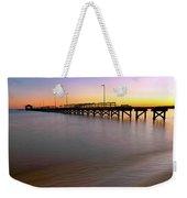 A Biloxi Pier Sunset - Mississippi - Gulf Coast Weekender Tote Bag