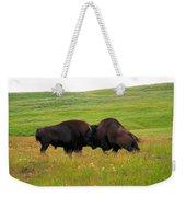 A Bison Brawl Weekender Tote Bag