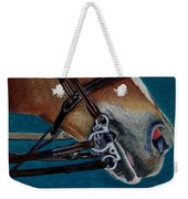 A Bit Of Control - Horse Bridle Painting Weekender Tote Bag