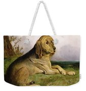 A Bloodhound In A Landscape Weekender Tote Bag