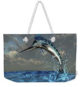 A Blue Marlin Flashes Its Iridescent Weekender Tote Bag