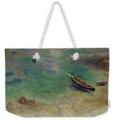 A Boat In The Waters Off Capri Weekender Tote Bag