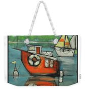 A Boaters Life Poster Weekender Tote Bag