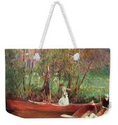 A Boating Party  Weekender Tote Bag by John Singer Sargent