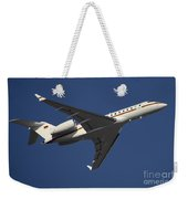 A Bombardier Global 5000 Vip Jet Weekender Tote Bag by Timm Ziegenthaler